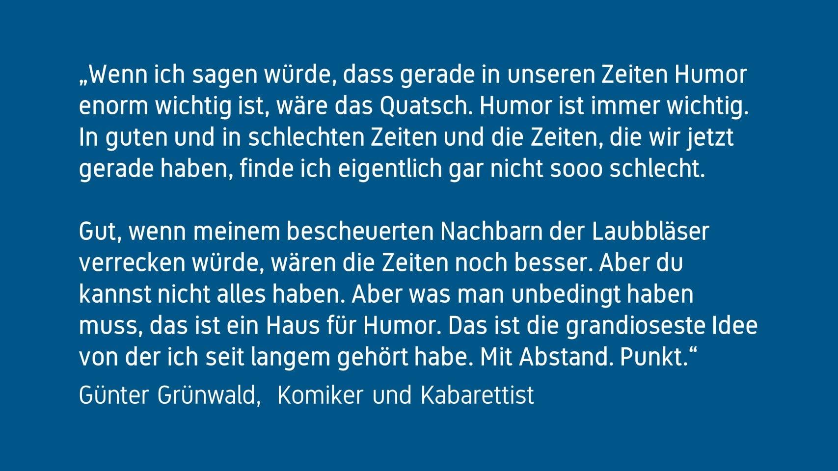 Günter Grünwald Forum Humor