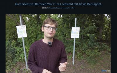 TV-Beitrag mit Klangkünstler David Berlinghof und seinem Lachwald